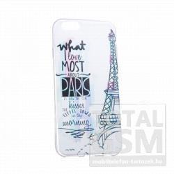 Samsung GT-I9500 GT-I9505 Galaxy S4 színes Paris mintás szilikon tok TPU 0.3mm