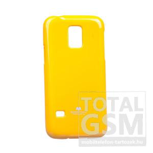 Samsung SM-G800 Galaxy S5 Mini citromsárga JELLY CASE szilikon tok