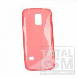 Samsung SM-G800 Galaxy S5 Mini piros s-line szilikon tok