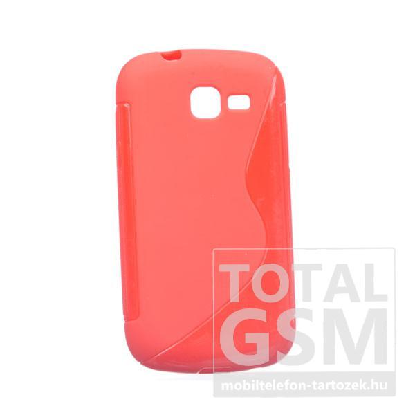 Samsung GT-S7390 / GT-S7392 Galaxy Fresh piros s-line szilikon tok