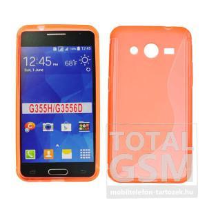 Samsung SM-G355H Galaxy Core 2 narancssárga s-line szilikon tok