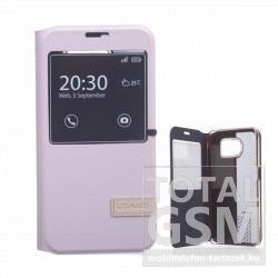 Samsung Galaxy S6 SM-G920F rózsaszín USAMS MUGE notesz flip tok