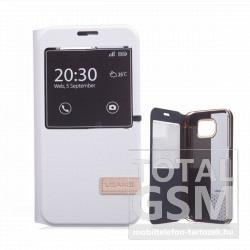 Samsung Galaxy S6 SM-G920F fehér USAMS MUGE notesz flip tok