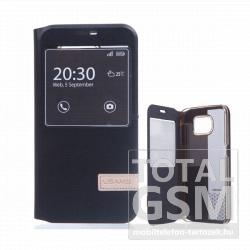 Samsung Galaxy S6 SM-G920F fekete USAMS MUGE notesz flip tok