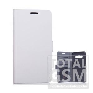 Samsung Galaxy A3 SM-A300 fehér oldalra nyíló flip tok