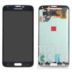 Samsung G900F Galaxy S5 LCD + Érintőpanel Gyári Fekete Bontott
