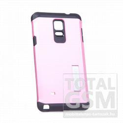 Samsung Galaxy Note 4 SM-N910C fekete-rózsaszín slim Armor SGP kemény tok