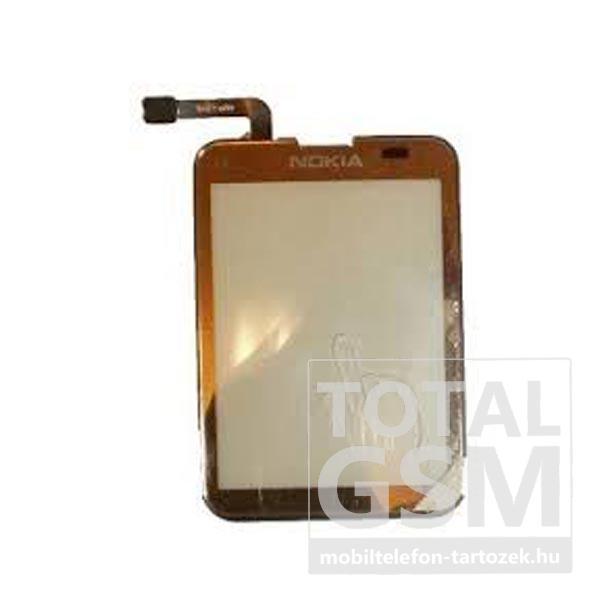 Nokia C3-01 gyári arany érintőpanel