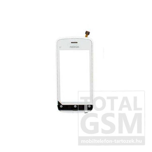 Nokia C5-03 gyári fehér érintőpanel előlappal