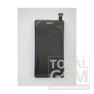 Nokia N9-00 gyári fekete bontott érintőpanel/LCD kijelző