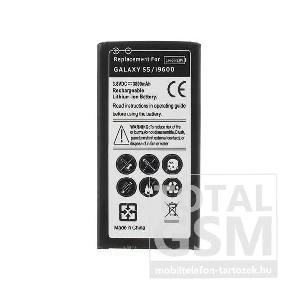 Samsung Galaxy S5 SM-G900F 2000mAh LI-Ion utángyártott akkumulátor