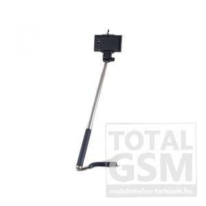 Univerzális állítható kézi selfie bot 95cm hosszú nyél/360°-ban forgatható fekete www.mobiltelefon-tartozek.hu