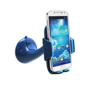 Univerzális autós tartó kék tapadókorongos/360°-ban forgatható/állítható kar www.mobiltelefon-tartozek.hu