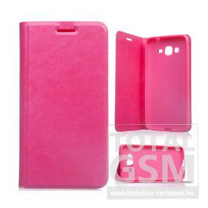 Samsung Galaxy Grand Prime SM-G530H rózsaszín notesz TPU-bőr flip tok