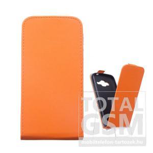 LG Spirit H440N C70 narancssárga flip tok szilikon belsővel