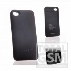 Apple iPhone 4 hátlapi akkumulátor töltő fekete 1900mAh