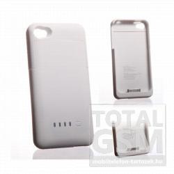 Apple iPhone 4 hátlapi akkumulátor töltő fehér 1900mAh