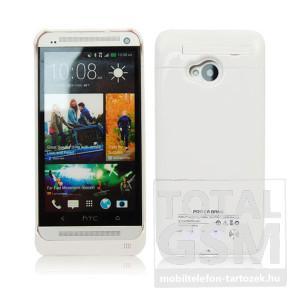 HTC One M7 hátlapi akkumulátor töltő fehér 3000mAh