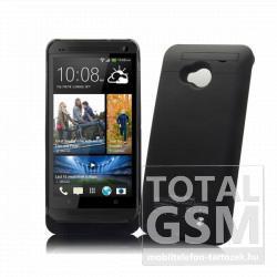 HTC One M7 hátlapi akkumulátor töltő fekete 3000mAh