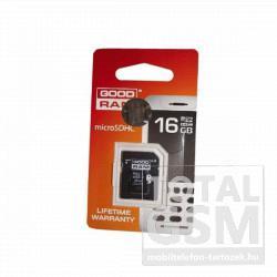 Memóriakártya TransFlash 16 GB microSDHC Class 4 + SD adapter