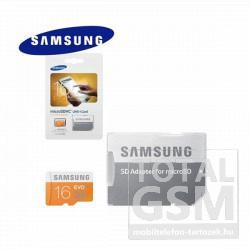 Memóriakártya TransFlash 16 GB microSDHC EVO Class 10 UHS-1 + SD adapter