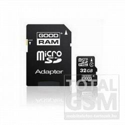 Memóriakártya TransFlash 32 GB microSDHC Class 4 + SD adapter