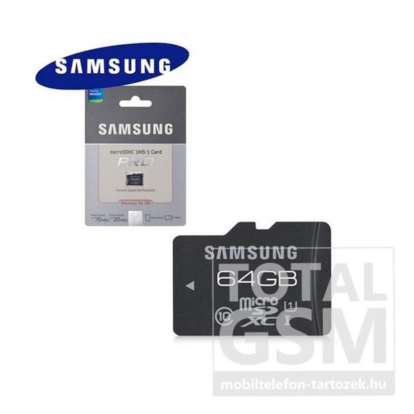 Memóriakártya TransFlash 64 GB microSDXC PRO Class 10 UHS-1 + SD adapter