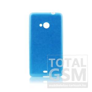 Samsung Galaxy S5 SM-G900 világoskék-átlátszó 0,3mm bőrhatású szilikon tok