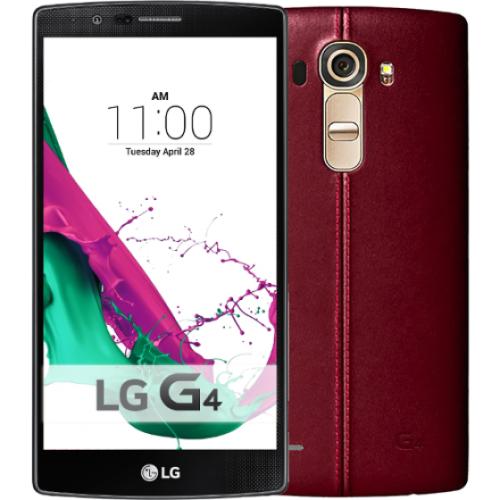 LG H815 G4 LTE 32GB piros bőr hátlap mobiltelefon