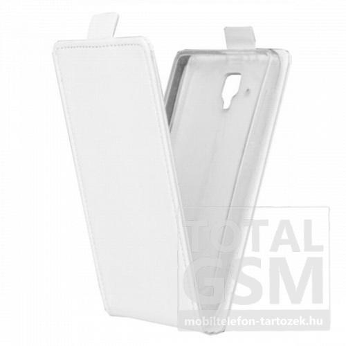 Lenovo A536 fehér mágneses bőr flip tok