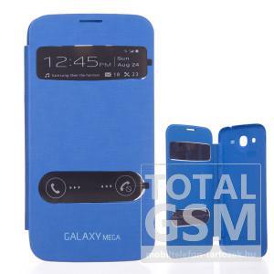 Samsung Galaxy Mega 5.8 GT-I9152 kék oldalra nyíló ablakos flip tok