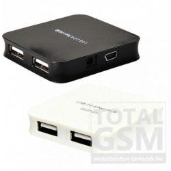 Astrum UH040 USB 2.0 4 port HUB fekete