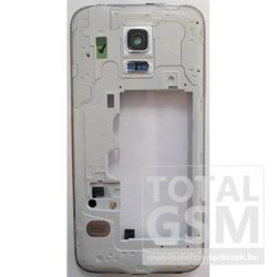 Samsung Galaxy S5 Mini SM-G800F középkeret / csörgő / headset csatlakozó gyári króm swap