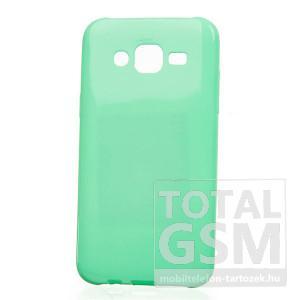 Samsung Galaxy Grand GT-I9060 / GT-I9080 0,3mm mentazöld csillogó Glitter Thin Tpu Case szilikon tok