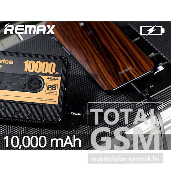 REMAX Kazetta vésztöltő / power bank 10000mAh fekete