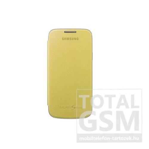 Samsung Galaxy S4 Mini GT-I9190  GT-I9195 citromsárga gyári oldalra nyíló flip tok