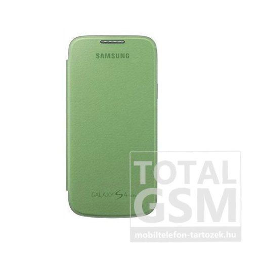 Samsung Galaxy S4 Mini GT-I9190 GT-I9195 zöld gyári oldalra nyíló flip tok