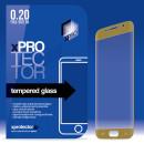 XPRO Samsung Galaxy S6 Edge SM-G925F képernyővédő fólia üveg 0,20MM 3D Gold arany kerettel (Másolat)