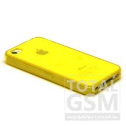 Apple iPhone 4 / 4S citromsárga fényes szilikon tok TPUC