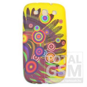 Apple iPhone 4 / 4S sárga mintás szilikon tok
