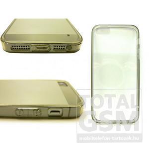 Apple iPhone 5 / 5S átlátszó vékony szilikon tok és keret