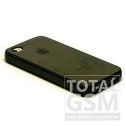 Apple iPhone 5 / 5S fekete fényes szilikon tok TPUC