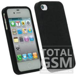 Apple iPhone 5 / 5S fekete szilikon tok TPU