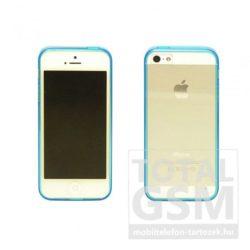Apple iPhone 5 / 5S kék vékony szilikon tok és keret