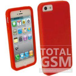 Apple iPhone 5 / 5S piros szilikon tok vékony TPU
