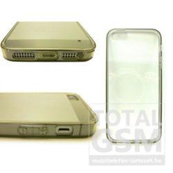 Apple iPhone 5 / 5S szürke vékony szilikon tok és keret