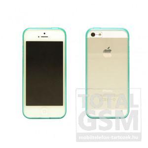 Apple iPhone 5 / 5S zöld vékony szilikon tok és keret