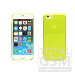 Apple iPhone 6 / 6S citromsárga ultra vékony szilikon tok