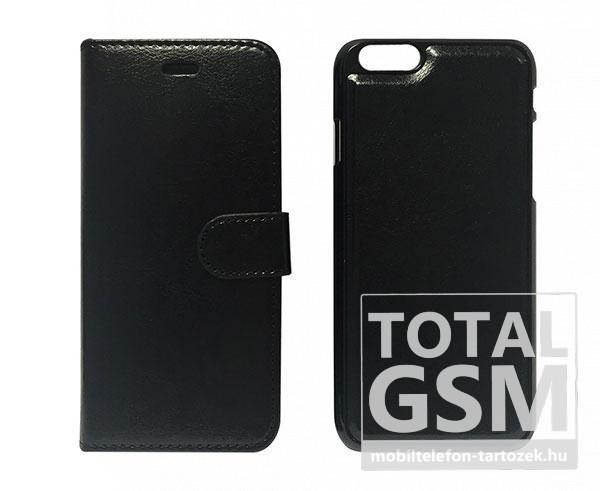 Apple iPhone 6 / 6S oldalra nyíló fekete cover flip tok