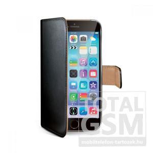 Apple iPhone 6 Plus / 6S Plus oldalra nyíló fekete book cover flip tok